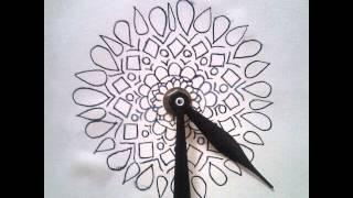 Washi Tape & Doodle Design Clock