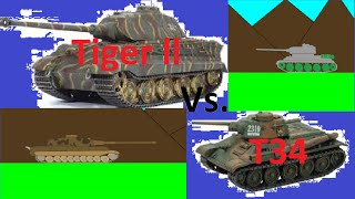 Tiger ll Vs. T34| Tank Battle Animated| Battle Lands