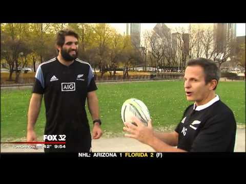 New Zealand All Blacks On Fox 32 Chicago News 10-30-14