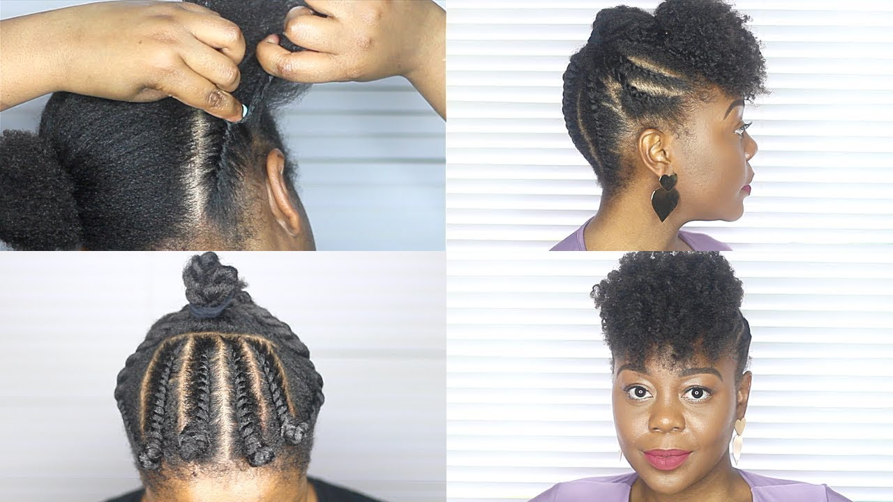Flat Twist Updo For 4c Natural Hair Youtube