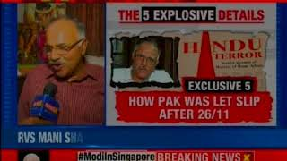 Newsx Exclusive Rvs Mani Shares Damning Information In His Book Hindu Terror Youtube