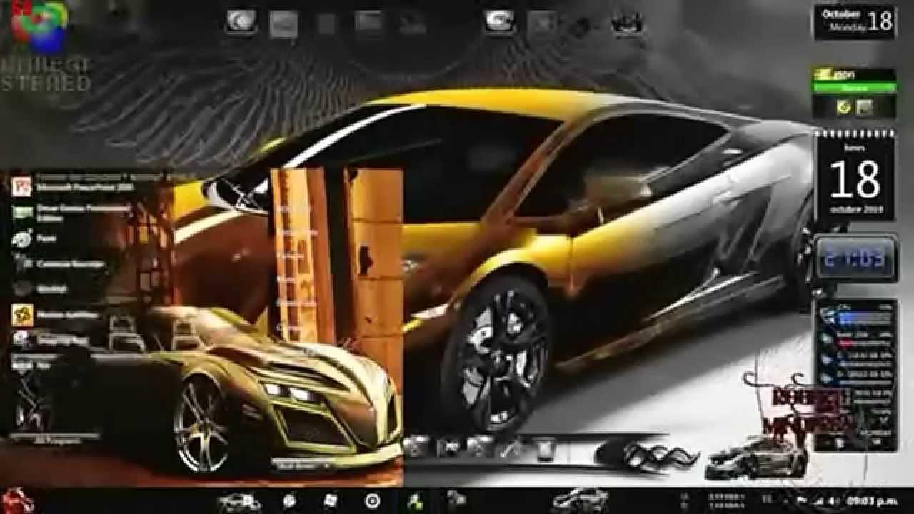 Tuning Cars Windows 7 Theme