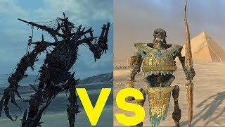 Колосс-некрофекс vs Костяной великан Total War Warhammer 2. тесты юнитов v1.5.0.