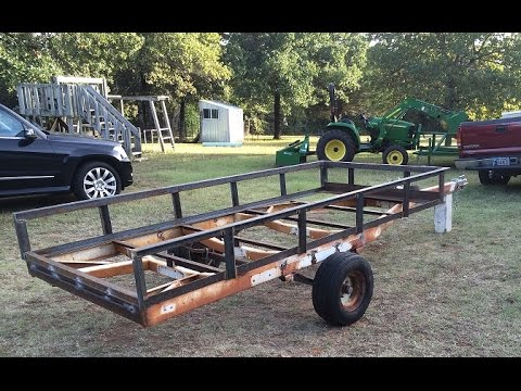 Boat Trailer to Utility Conversion Part 4 - YouTube