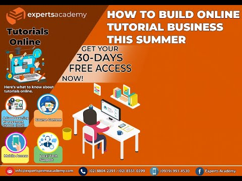 How To Build Online Tutorial Business This Summer by Experts Academy