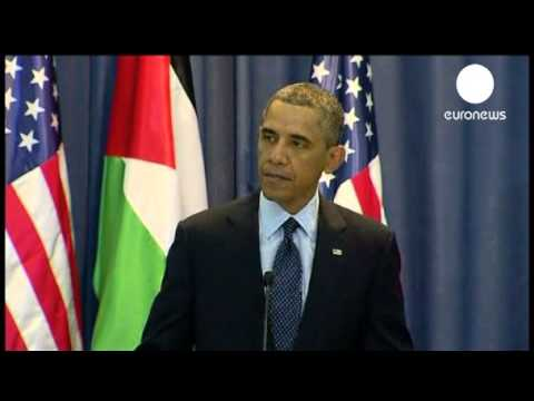West Bank press conference- Obama seeks two-state solution