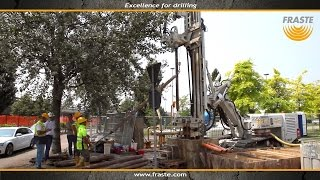 Foundation, Micropile Drill Rig Fraste MITO 60 at work - 600 mm hole  diameter by Fraste