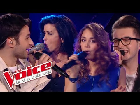 The Voice 2013│Olympe, Laura Chab', Anthony Touma & Jenifer - Double Je (Christophe Willem)│Prime 4
