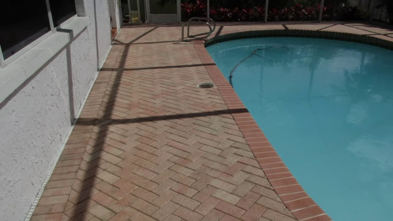 Backfilling Paver Pool Deck Paver Pool Deck Cleaning & Sealing  Youtube