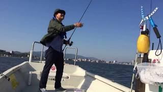 宍道湖でシーバス釣り