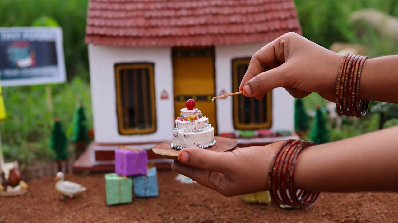 Amazing Miniature STEP CAKE | Red Velvet Cake Recipe | New Year Special | The Tiny Foods