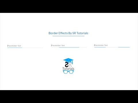 Form Input Border Focus Effects | Demo-1 | Html & Css |  SR Tutorials