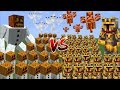 Minecraft 1000 SNOW GOLEMS VS 1000 MC NAVEED BATTLE FIGHT AGAINST MOBS AND SURVIVE Minecraft mp3