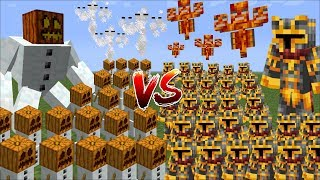 Minecraft 1000 SNOW GOLEMS VS 1000 MC NAVEED BATTLE / FIGHT AGAINST MOBS AND SURVIVE!! Minecraft