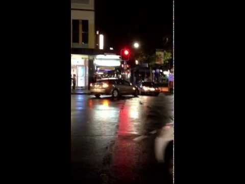Chick gets caught by the cops after Rundle street burnout