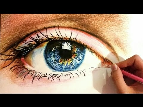 How to Draw a Realistic Eye with Colored Pencils (Speed ...