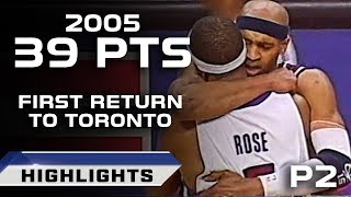 Vince carter first return to toronto part 2 - silencing the crowd! (04.15.2005)