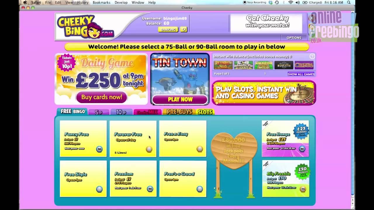 Cheeky Bingo Sign Up Offer