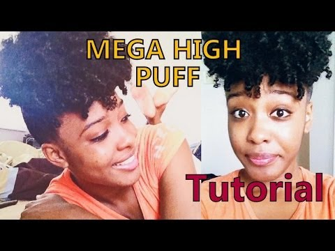 3c 4a natural hair mega-high puff