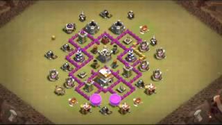 Clash of clans - Meilleur Village HDV 6 GDC / Best TH6 War Base