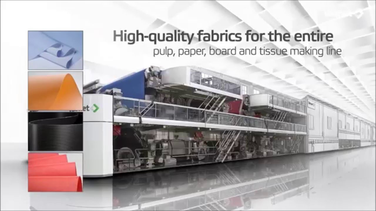 Valmet's full line of paper machine clothing - YouTube