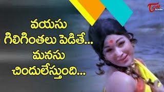 వయసు గిలిగింతలు పెడితే ..మనసు చిందులేస్తుంది | Chakkani Chinavade | Datta Putrudu | Old Telugu Songs