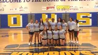 kowboys girls volleyball team claim 2015 obc championship