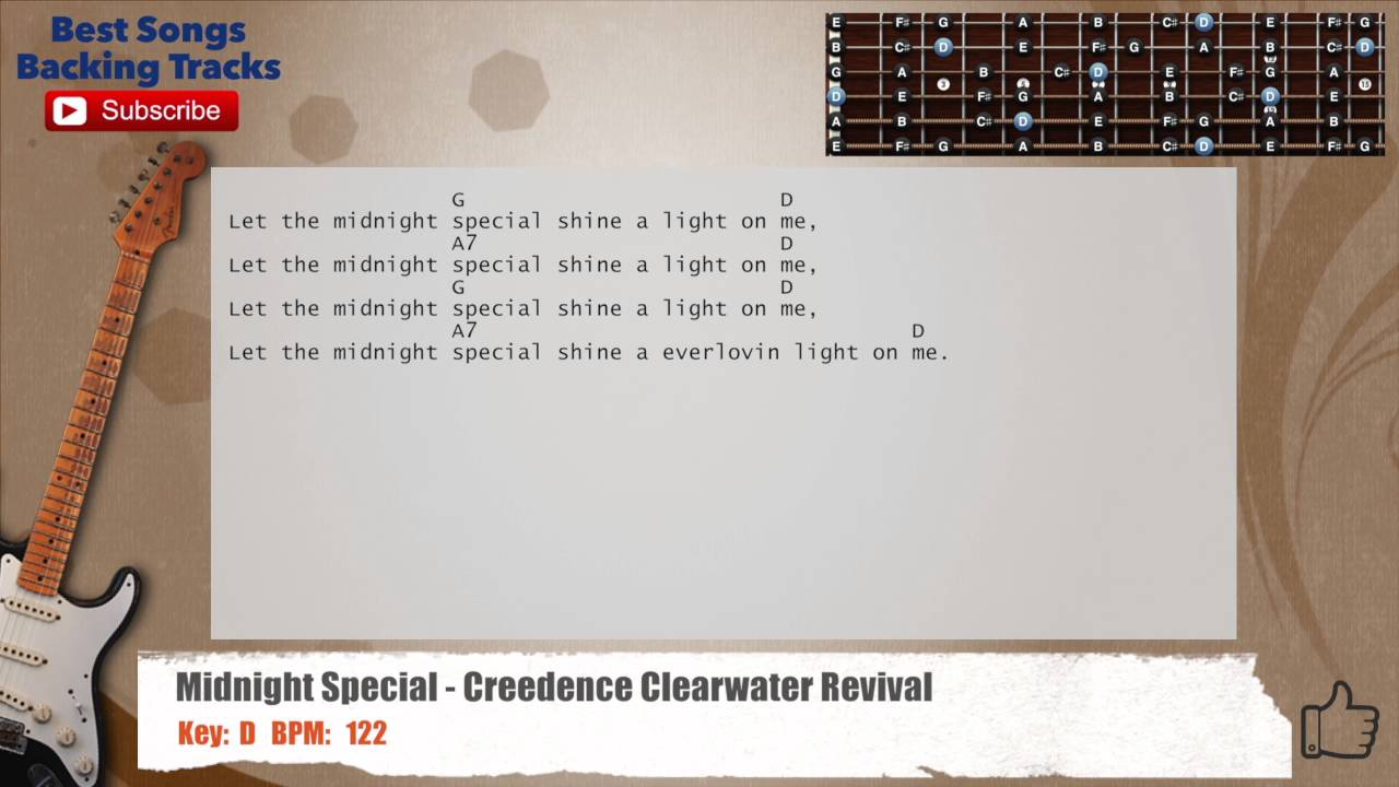 The midnight special creedence clearwater revival guitar backing the midnight special creedence clearwater revival guitar backing track with chords and lyrics hexwebz Gallery