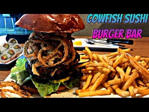 What's A Cowfish??? *Cowfish Sushi Burger Bar Food Review*