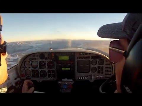 Lancair 360 flying around Salt Lake City mountains