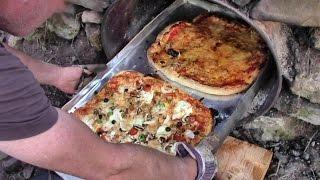 Wie wir einen Pizzaofen bauen und darin Pizza backen