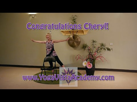 (1 Hr) Chair Yoga Flow with Cheryl Todd, Certified Chair Yoga Teacher