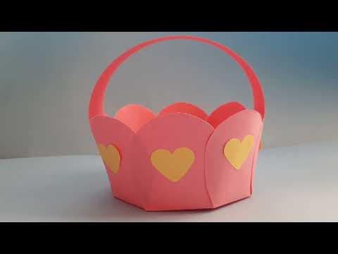 Как сделать корзиночку из бумаги своими руками