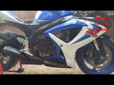 How to rebuild a Suzuki GSXR 600 K7 - YouTube
