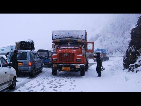 Srinagar Jammu national highway closed due to inclement weather, tourists stranded