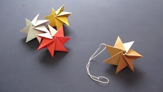 [How to ORIGAMI] Ornament Christmas Star / ~クリスマスオーナメント~