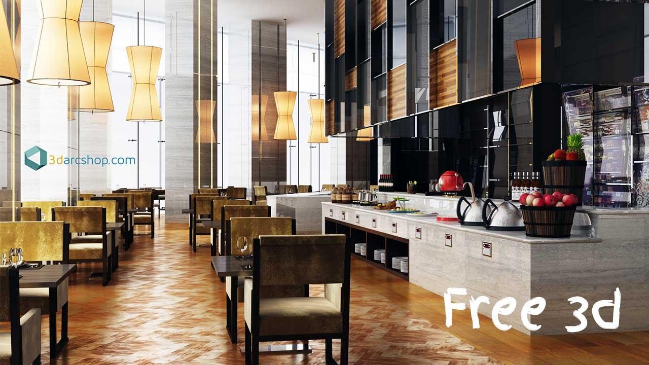 New Free Interior & Exterior Scene File From 3darcshop com 2016
