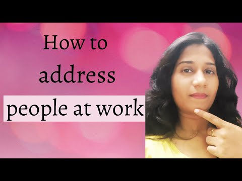 How to address people at work [clients, boss and colleagues] | Business English and Etiquette