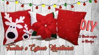 DIY  FUNDAS O COJINES NAVIDEÑOS/ 🎄DIY CHRISTMAS PILLOWS