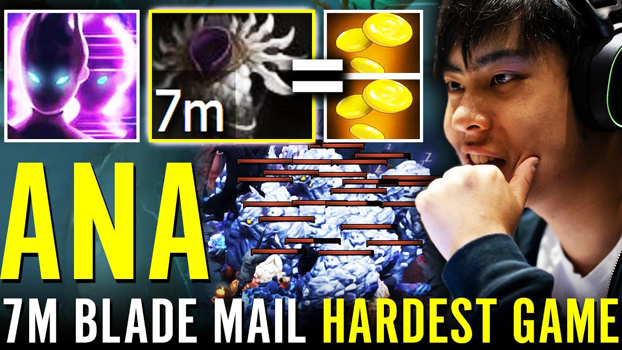 100% ANA HARDEST GAME EVER!!! Spectre 7m Blade Mail BIGGEST STACK FARM vs GOD PL Dota 2 Pro Carry