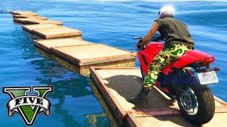 GTA V Online: SKILL TEST com TRILHA DE MOTO!!! (NO MAR)