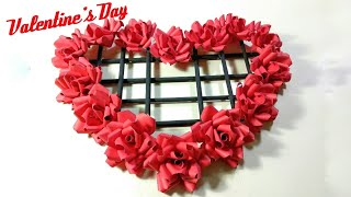 Happy valentine's Day |สุขสันต์วันวาเลนไทน์ | DIY paper flowers craft♥️ | how to? #valentine