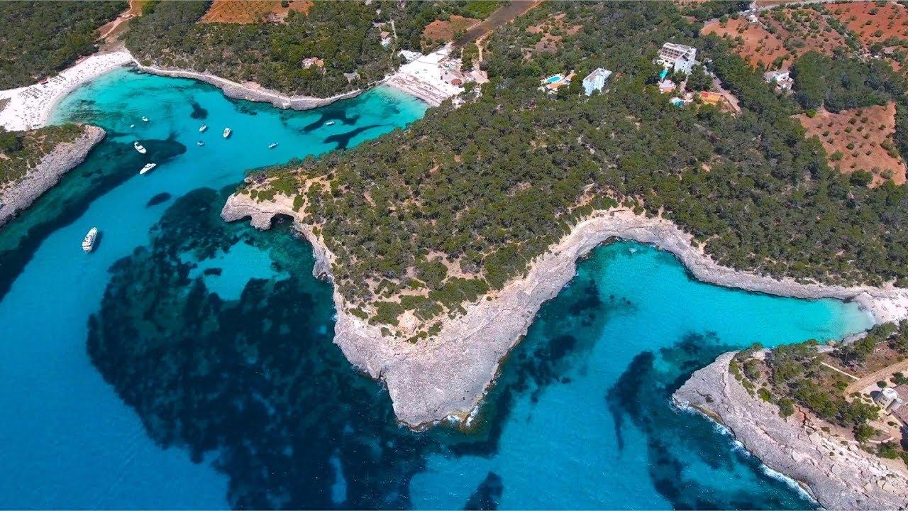 Parque Natural de Mondragó en 4K desde dron - YouTube