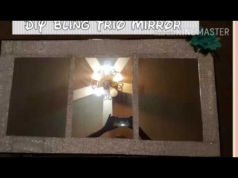 Dollar Tree DiY BLING Mirror Trio for under 8 bucks