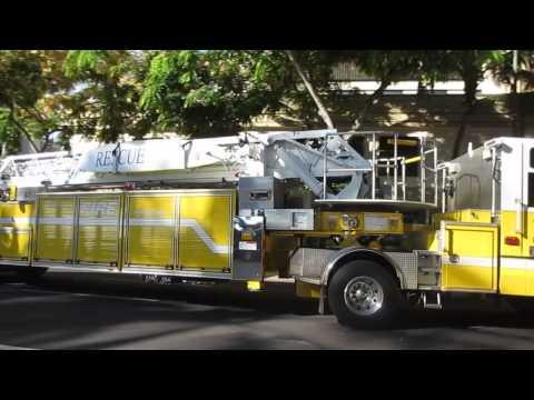 Honolulu Fire Department @ Kalakaua Ave & Uluniu Ave Waikiki Honolulu Oahu Hawaii