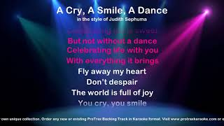 A Cry, A Smile, A Dance - ProTrax Karaoke Demo