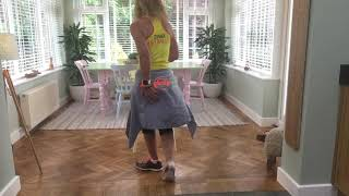 "Zumba chair 2  ~ ""Boogie shoes"" by Glee Cast"