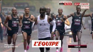 VIDEO: Eliud Kipchoge brise la barrière des 2 heures - Athlé - Marathon
