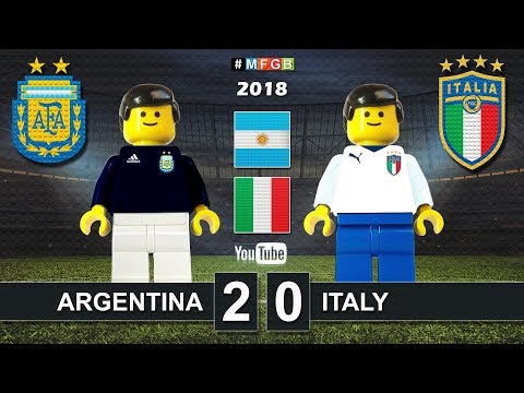 Argentina vs Italy 2-0 • Friendly match (23/03/2018) Italia Argentina Goals Highlights Lego Football