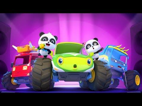Baby Panda's Singing Contest | Monster Car Story | Kids Songs | BabyBus